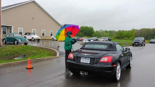 Rainbow umbrella and convertible